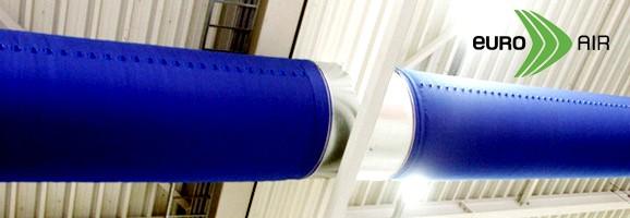 ท่อลมแอร์ผ้า - Fabric Ducts จาก Euro Air (Denmark)  Klima Group (Thailand) เราคือ Authorized Distributor ของ Euro Air (Denmark) ออกแบบและนำเข้า ท่อลมแอร์ผ้า หรือที่รู้จักกันในชื่อ Fabric Air Duct, Air Sock Duct, Air Duct Sock, Air Sox Duct, Air Duct Sox, Textile Air Duct เพื่อใช้ทดแทน ท่อส่งลมสังกะสี (galvanized steel air duct)